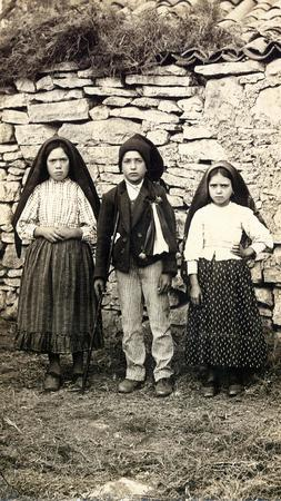 The children of Fatima, Lucia, Francisco and Jacinta
