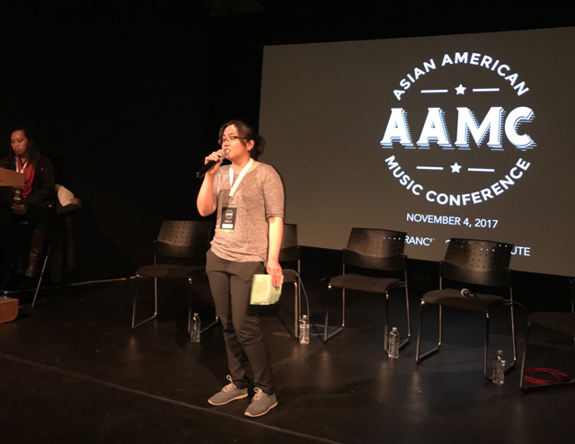 Christina Luna, one of the organizers of the Asian American Music Conference (Photo by Ferlie Andong)