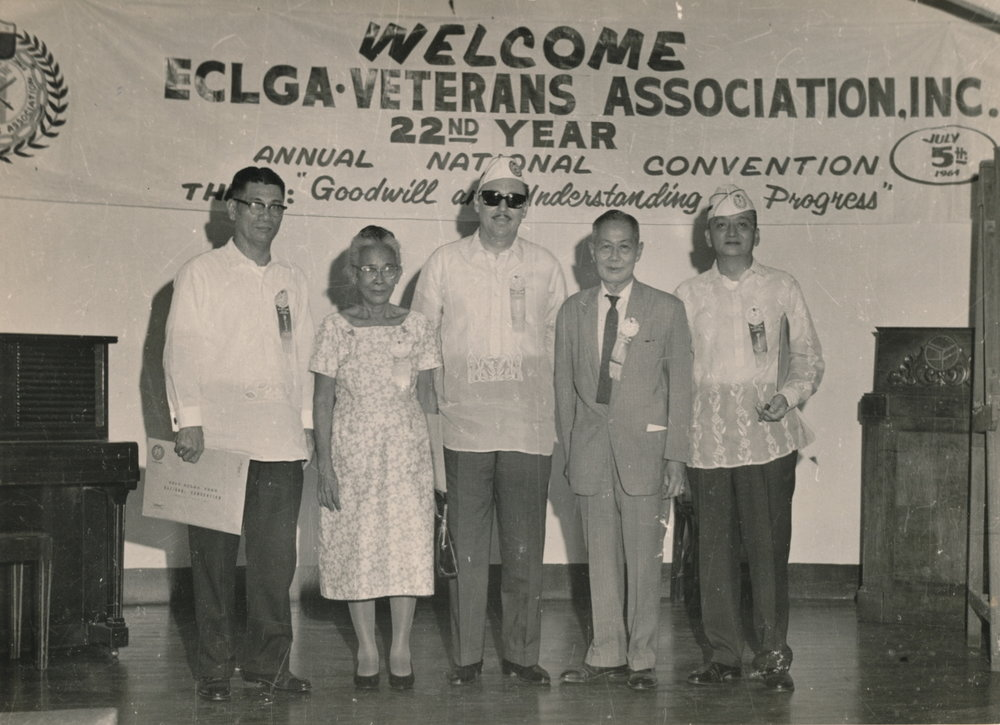 Leon Banaag, Cipriana Benitez, Edwin Ramsey, Juan Benitez & Luis Villareal, 1964 in the Philippines (Photo courtesy of Alice Benitez)