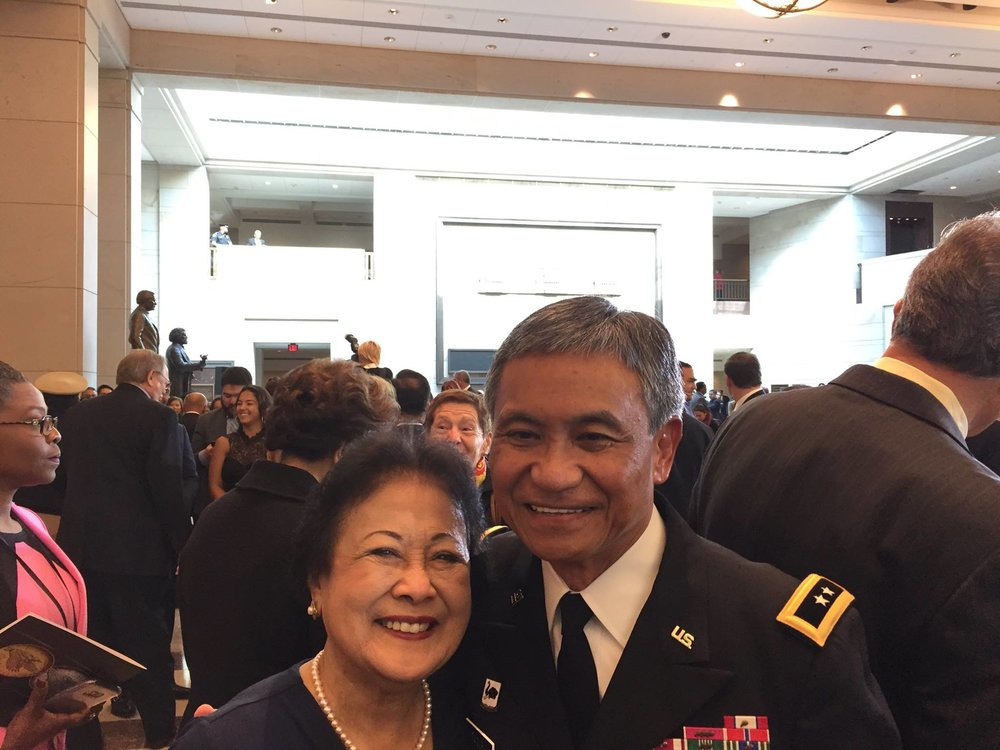 Major General (retired) Tony Taguba with Dr. Alice Benitez at the CGM awards ceremony in Washington DC (Photo courtesy of Cecilia Gaerlan)