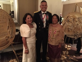 FilVetREP Regional Directors Thelma Sevilla, Brig General (retired) Oscar Bautista Hilman & Zenaida Crisostomo Slemp at the CGM Gala at the Ritz Carlton in Washington DC (Photo courtesy of Zenaida C. Slemp)