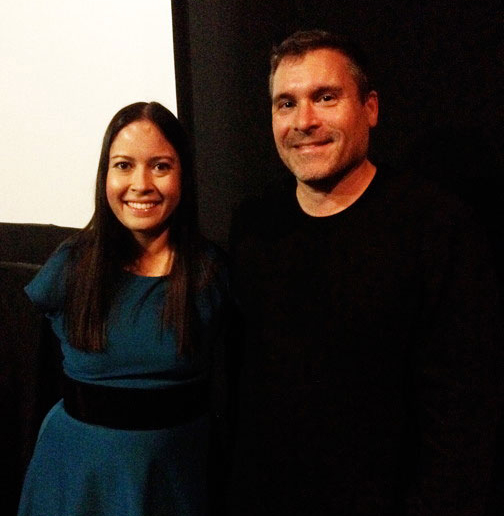 Jessica Cox and director Nick Spark