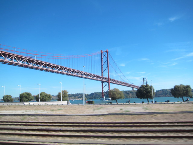 The 25  th   of April Bridge in Lisbon.