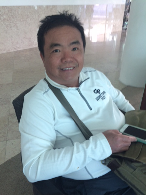 Lunch at one of the hotels in downtown Fatima allows us to meet other Filipinos in different tour groups. Noel Descalzo has been living in Christchurch, New Zealand for the past 20 years. He is from General Santos City and has a daughter.