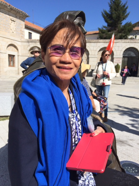 Also visiting Avila: Nelly Okamoto, has lived in Maryland since 1968. She is a medical technologist.