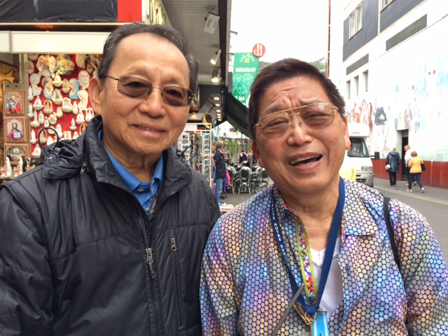 More Filipino volunteers from Bedford, Pennsylvania at Lourdes: Dr. Boni Aguirre (left) hails from Mandaluyong and Dr. Ruben Torres from Batangas.