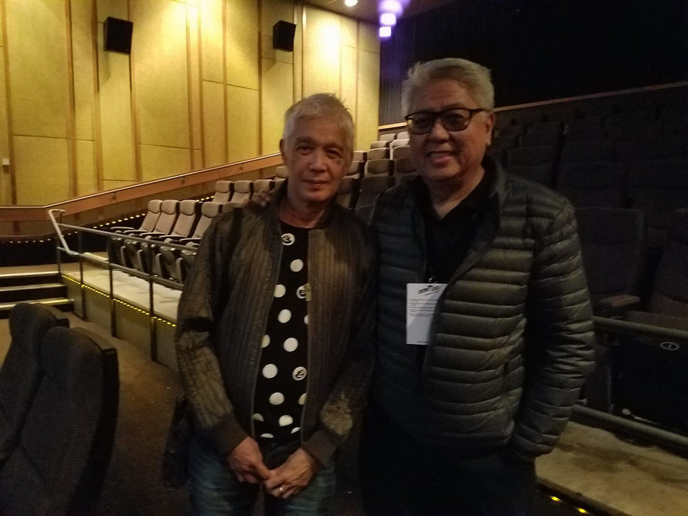Director Loy Arcenas and Ryan Cayabyab (Photo by Raymond Virata)