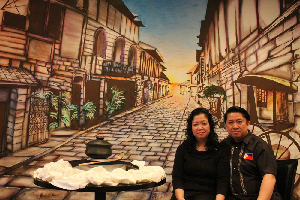 Owners Mary and Winston Sevilla make sure that dining at Kusina De Manila is a unique experience. (Photo by Ivan Kevin R. Castro)