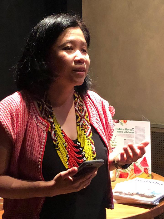 Consul General of New York Maria Theresa Dizon-de Vega welcomed the Philadelphia guests of the Hidden Flavors of the Philippine Kitchen reception, last of a multi-city culinary tour of North America and Canada, underwritten by the Philippine Department of Foreign Affairs, Cultural Diplomacy Unit –led by Ma. Louella Duarte and Michelle Reyes.(Photo courtesy of Elizabeth Ann Quirino & Elpidio P. Quirino)