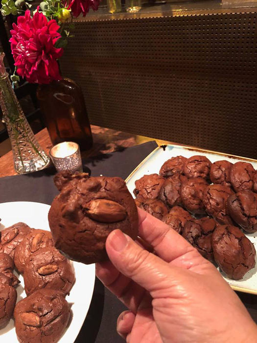 Chocolate Cookies made with Tigre y Oliva chocolate and pili nuts from Catanduanes.(Photo courtesy of Elizabeth Ann Quirino & Elpidio P. Quirino)