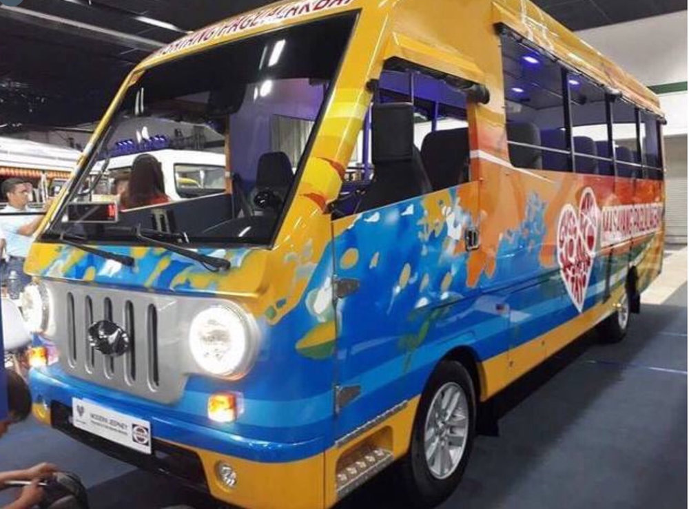 The modern electric jeepney (Source: DOTr facebook page)