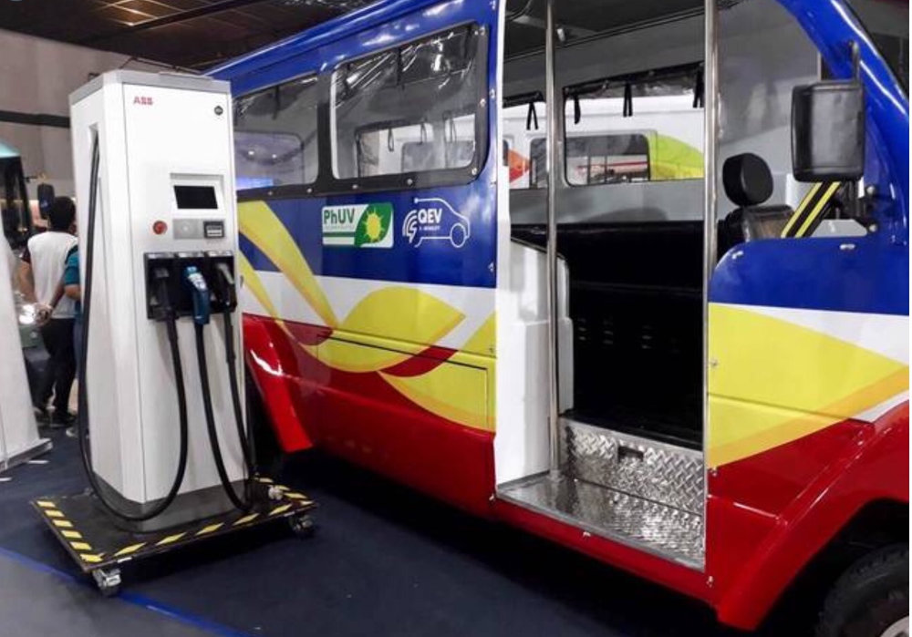 A charging station for the new jeepney (Source: DOTr facebook page)