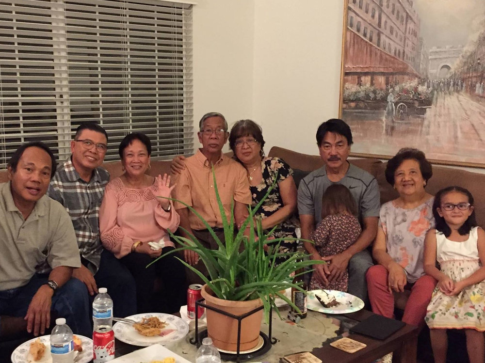 The Palmares family at Thanksgiving (Photo courtesy of Jen Palmares-Meadows)
