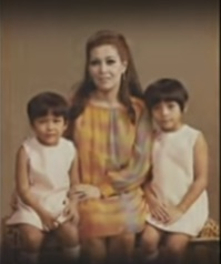 One of the rare photos of Carmen de Zuniga, with daughters Roxanne and Rowena. She held forth at the North Forbes mansion.