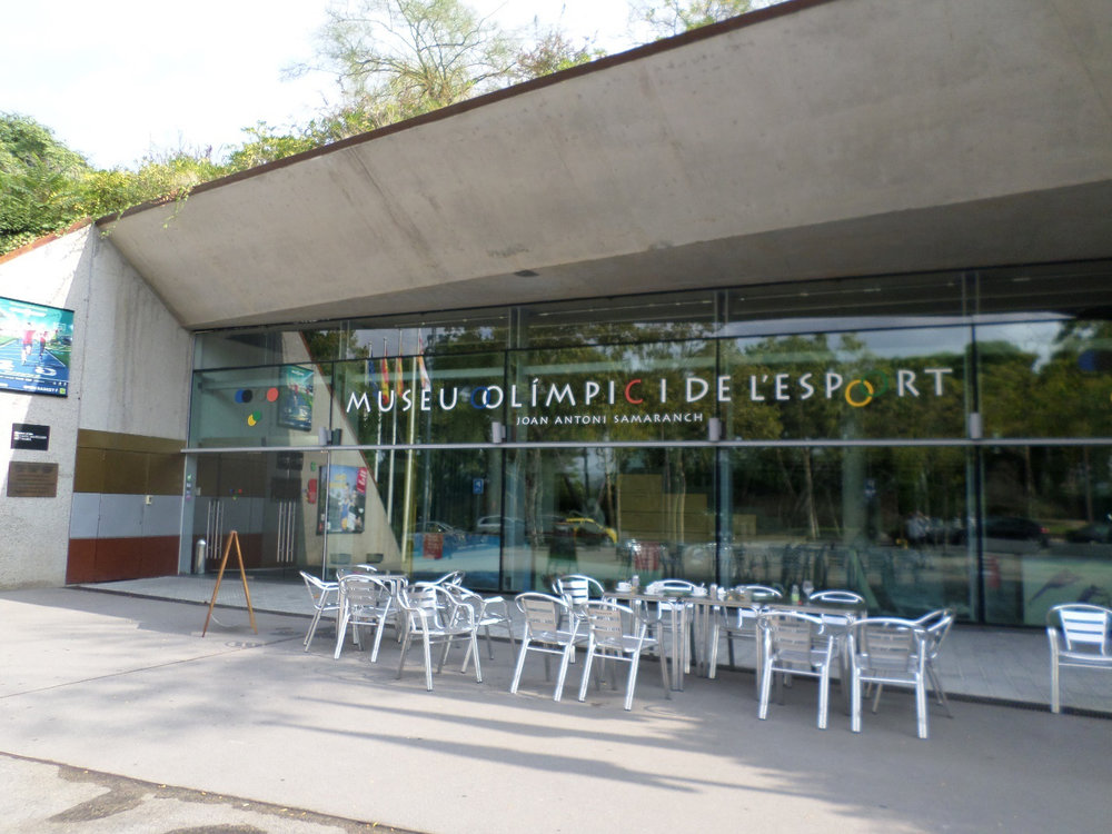 Front of the Olympic Museum in Barcelona. (Author's collection.)