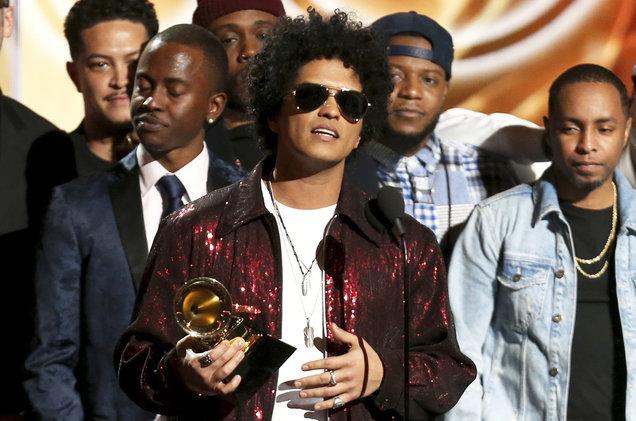 Bruno Mars wins 6 Grammys (Source: Matt Sayles/AP)