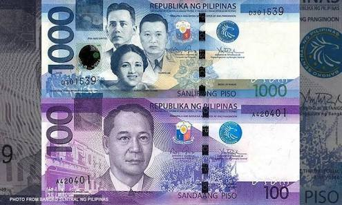 The new P100 bill now has a more pronounced hue compared to the P1,000 bill (Source: Cnn Philippines)