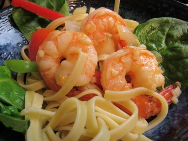 Pasta with Shrimps and Vegetable (Photo by Elizabeth Ann Quirino)