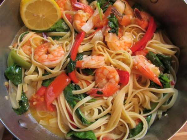 Pasta with Shrimps and Vegetables (Photo by Elizabeth Ann Quirino)