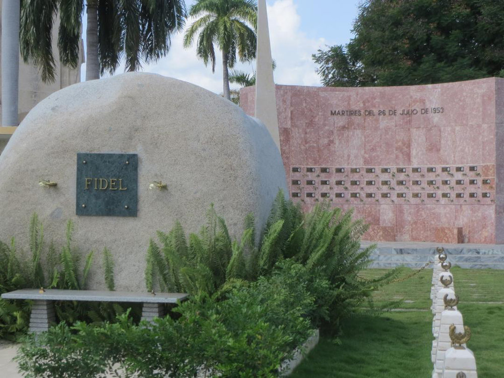 Fidel's resting place (Photo courtesy of Angioline Loredo)