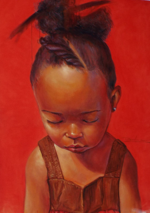 Portrait of a child (artist unknown)