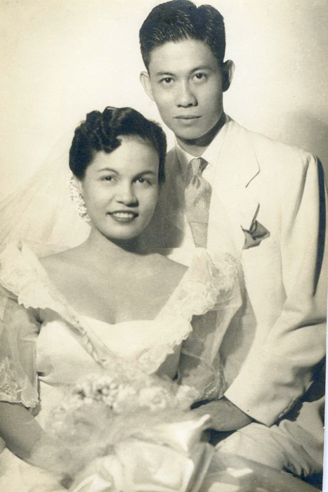Leonardo Siguion-Reyna and Armida Ponce-Enrile on their wedding day, November 1951. (Photo courtesy of the Siguion-Reyna family)