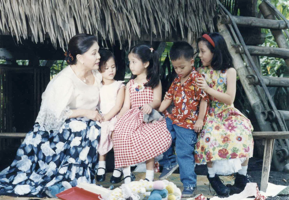 Armida's grandchildren appeared with her in an Aawitan Kita Christmas special. (Photo courtesy of the Siguion-Reyna family)