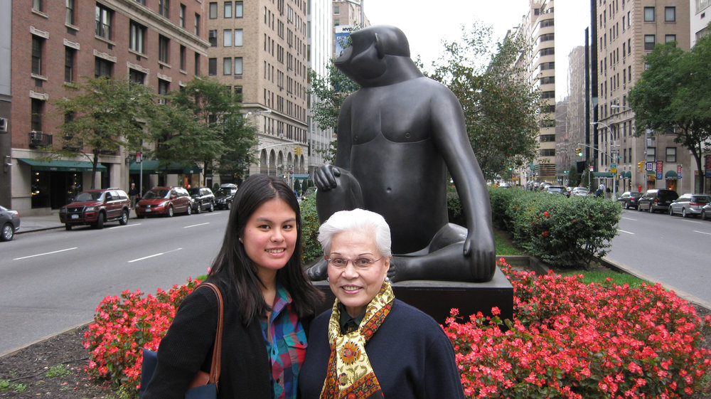 The author and her grandmother Armida (aka Mahal) in New York, 2010. (Photo courtesy of the Siguion-Reyna family)