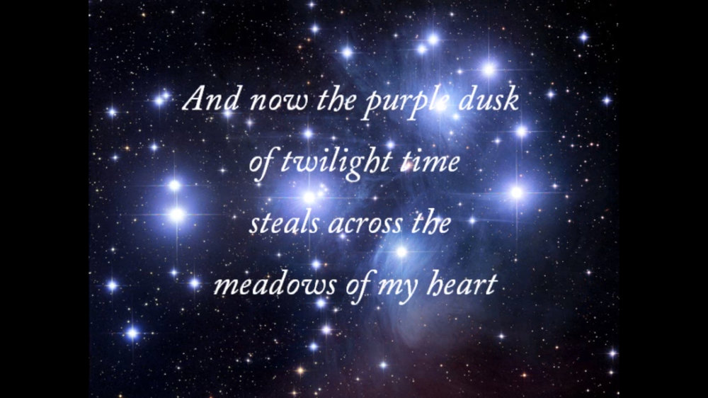 "The opening lines of "" Stardust. """
