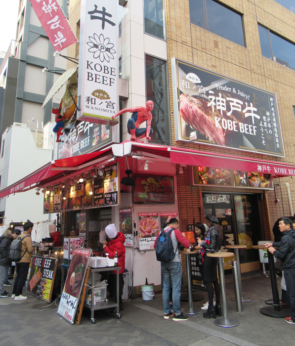 Our final dinner was at the Kobe Beef Wanomiya in Dotonbori, Osaka. (Photo by Bella Bonner)