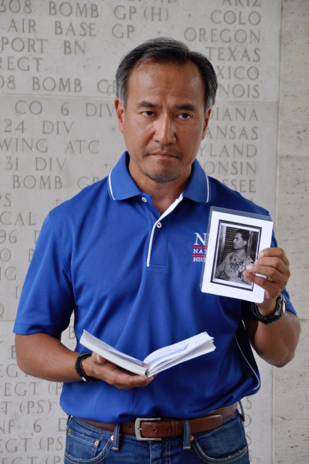 """""""I am privileged to research about the life of Sgt. Teofilo Yldefonzo of the 57th Infantry Regiment (PS) of the Philippine Scouts. He was an Olympic bronze medalist while in service. He survived the Bataan Death March but died in the concentration camp. It will be my distinct pleasure to pay tribute to him at his memorial at the Manila American Cemetery."""" – Joey Cumagun"""