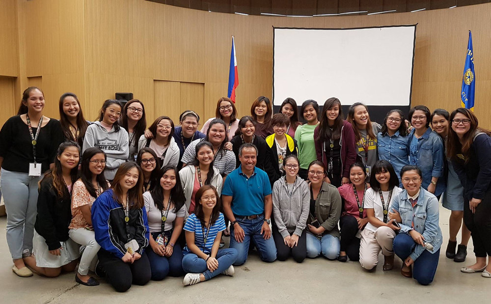 """Cumagun gets to teach in a workshop in Miriam College (formerly Maryknoll College) where he taught years before he moved to the US. """"Can't Help Falling in Love with Special Education"""" Workshop, July 2017, at Miriam College, Quezon City, Philippines."""