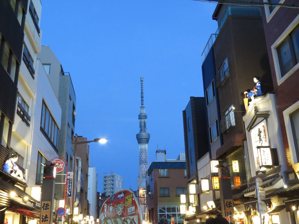 The shops and restos in the frenzies touristic streets of Asakusa