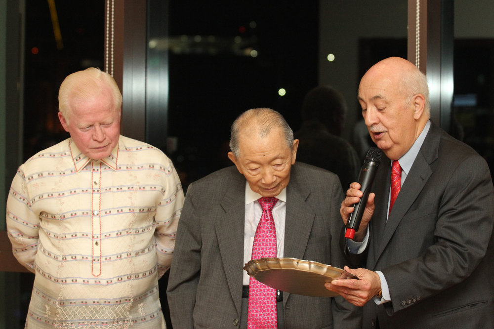 Carlos P. Romulo Award Presented to Honorary Chair Washington Sycip, January 2015
