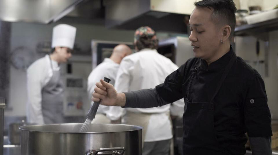 Chef Jam Melchor was the first Filipino chef in residence at the  Tavole Accademiche  (Academic Tables) of the  Universita degli Studi di Scienze   Gastronomiche  (UNISG) in Pollenzo, Italy. Chef Jam cooked and presented Philippine cuisine.