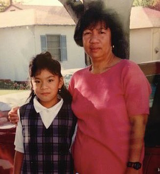 The author as a little girl and her mom (Source: Janice Sapigao's Facebook page)