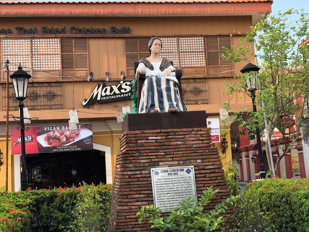 The statue of Ilocano poetess Leona Florentino, mother of 19th century intellectual Isabelo de los Reyes (Photo by Criselda Yabes)