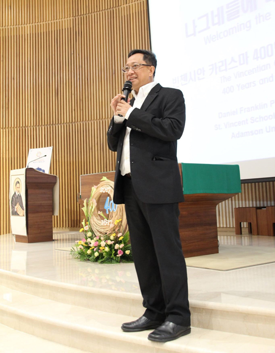 Father Danny at a Vincentian conference in Suwon, South Korea (Photo courtesy of Father Danny Pilario)