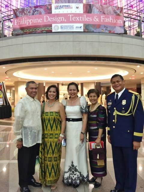 L-R:Sonny Busa, the author, Grace Gentiles, Ceres Busa, Col Jojo Gentiles