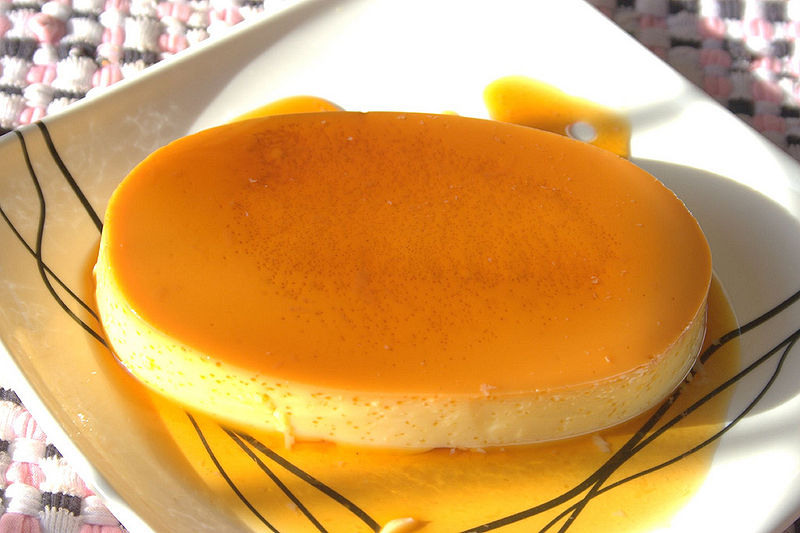 Leche Flan (Photo by Jeanne Tiong, Wikimedia Commons)