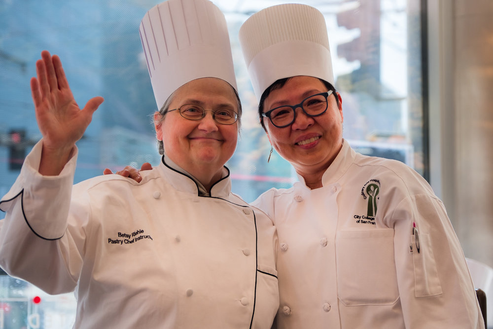 Bettina Santos Yap (right) says she learned valuable techniques from chef instructor Betsy Riehle.