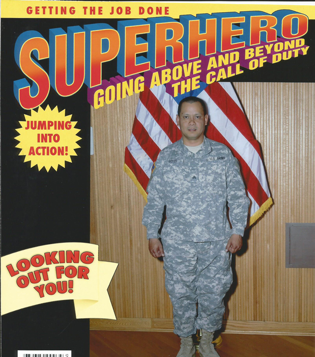 Derrick Reyes in the Army