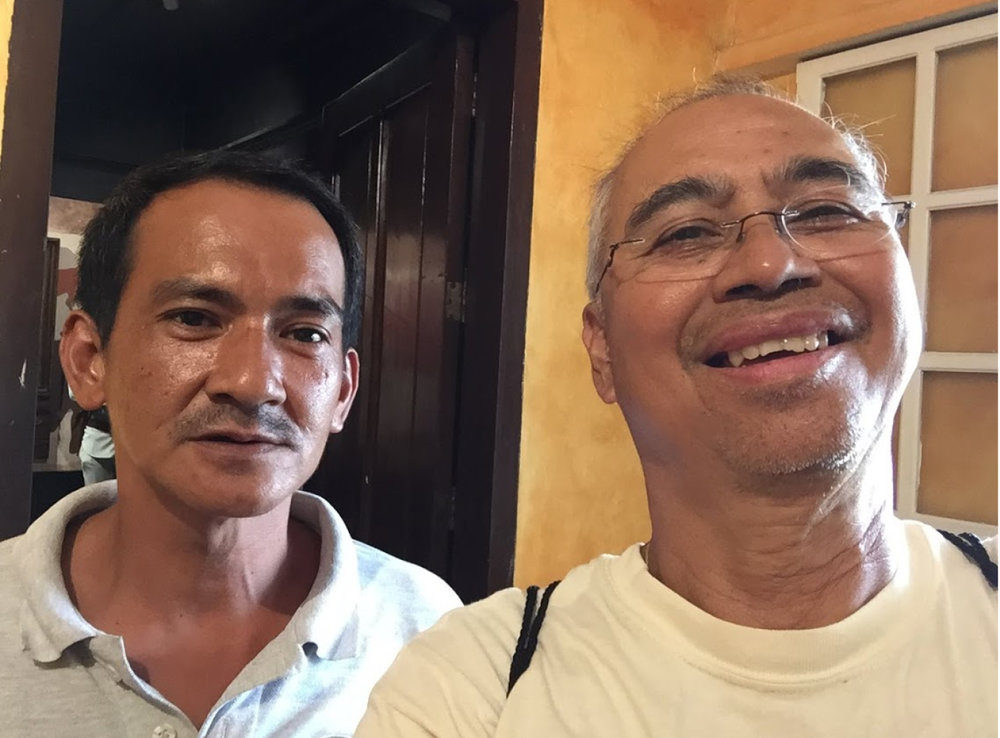 Manong George, and the author.