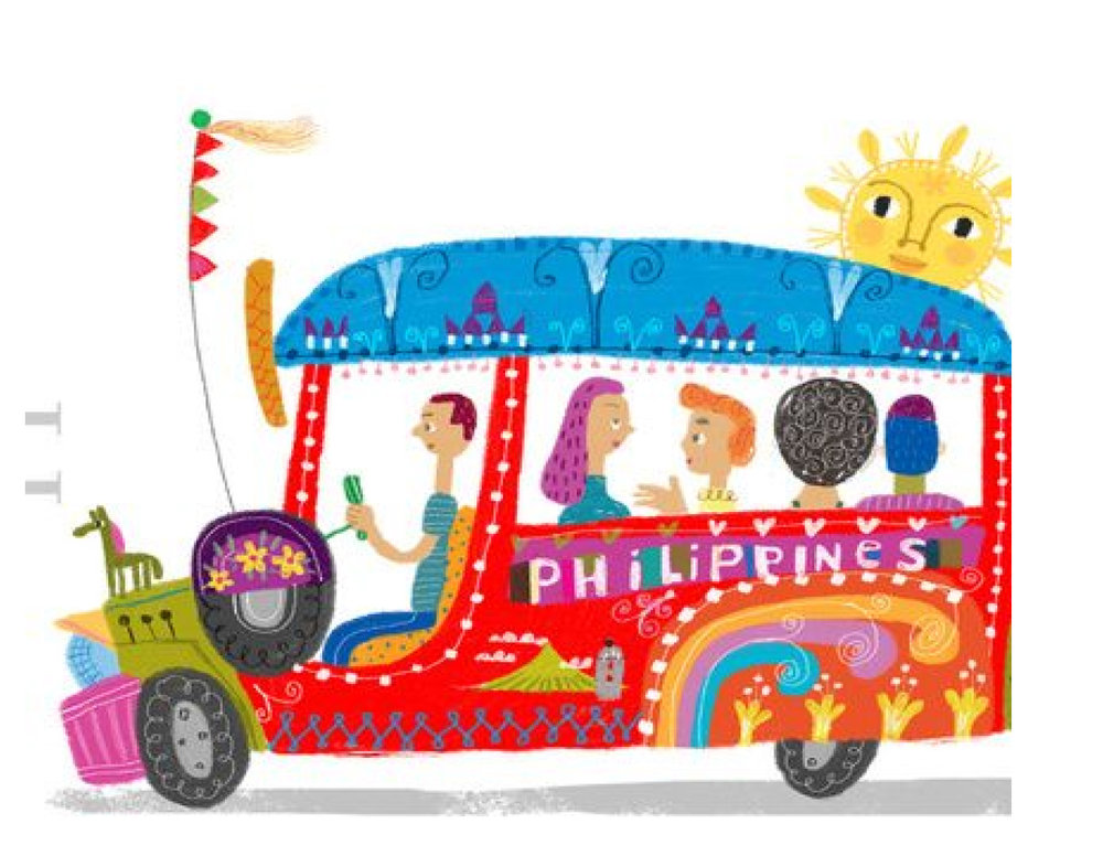 Commuting is more fun in the Philippines (Source: Pinterest).
