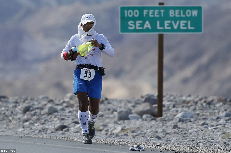 Badwater 135 Miles-Death Valley, CA (Source: Reuters News)
