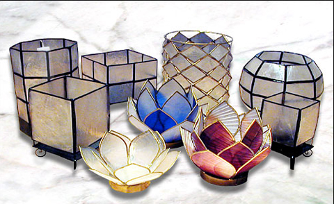 Novelty products made from Philippine capiz or mother-of-pearl.