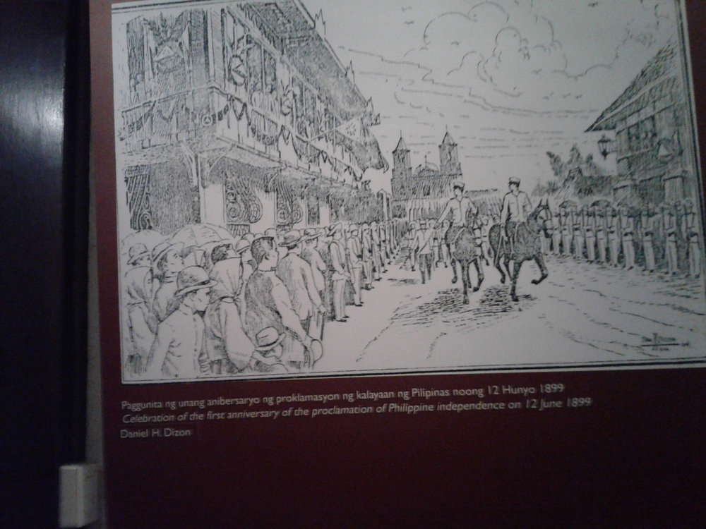 Historic 19th century lithograph showing Pamintuan Mansion as venue of Independence Day celebration, June 1899 (Photo by Virgilio A. Reyes, Jr.)
