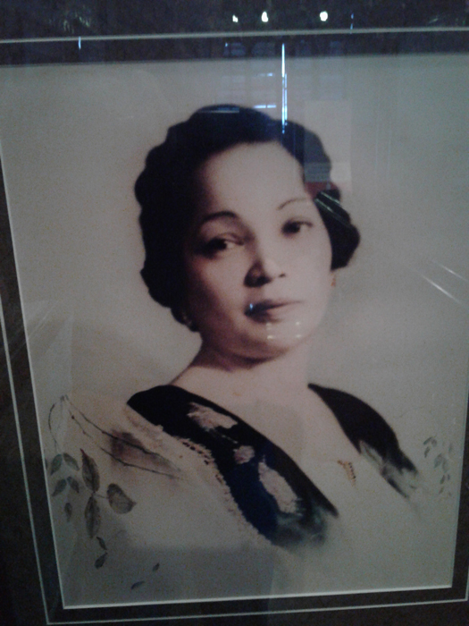 Dona Tomasa Centeno de Pamintuan, wife of Don Florentino Pamintuan (Photo by Virgilio A. Reyes, Jr.)