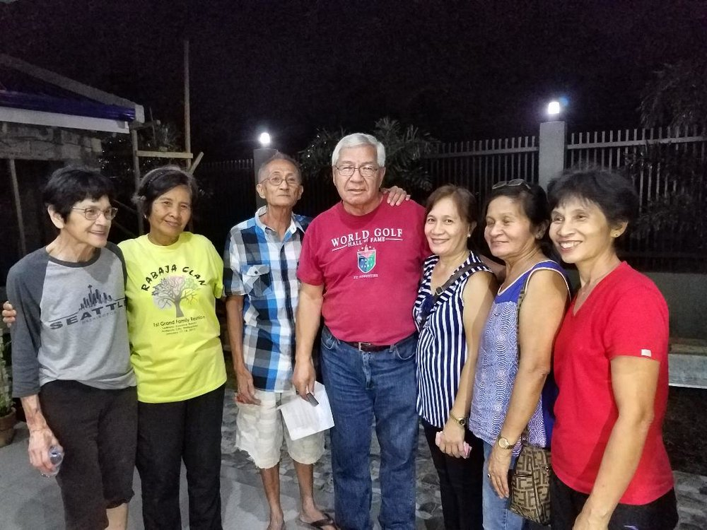 My aunt Rose (first from the left) and father (fourth from the left) meet their Ballesteros cousins for for the first time.(Photo courtesy of David R. Rabaja)