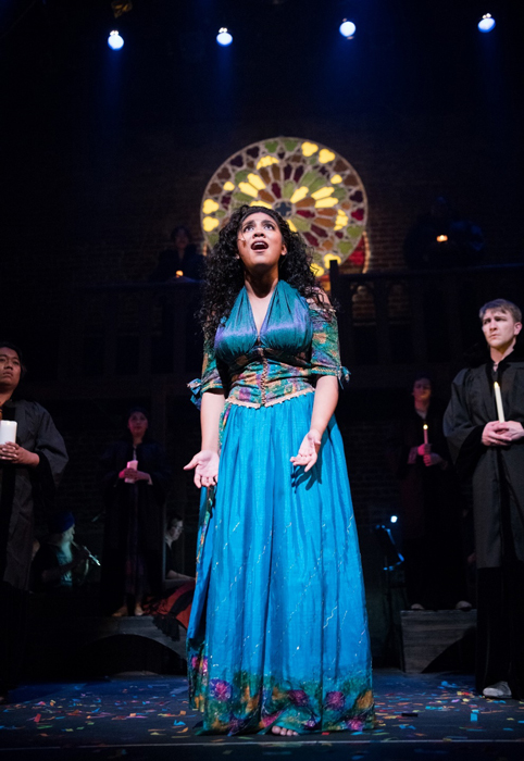Rising Fil-Latina actress Alysia Noelle Beltran belting out Esmeralda's big number,  God Help the Outcasts . From the film score by Stephen Schwartz (lyrics) and Alan Mencken (music).